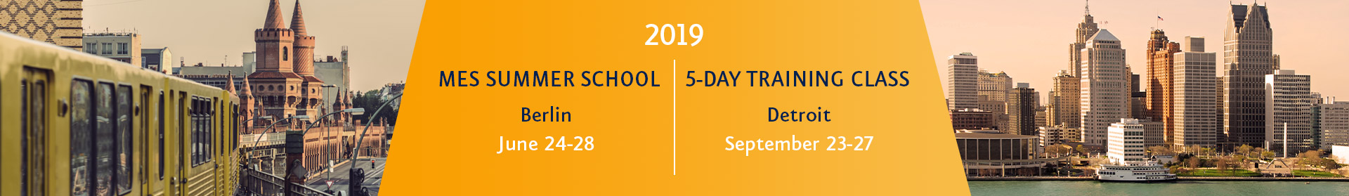 MES Summer School 2019/5-Day Training Class 2019