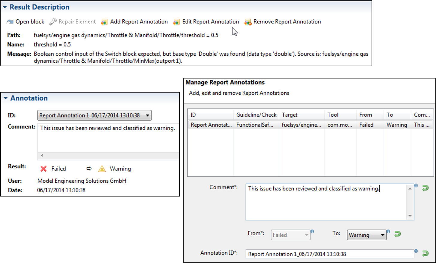 Model Examiner (MXAM): Automatic Guideline Checking - MES